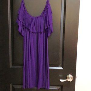Off the Shoulder Purple Dress